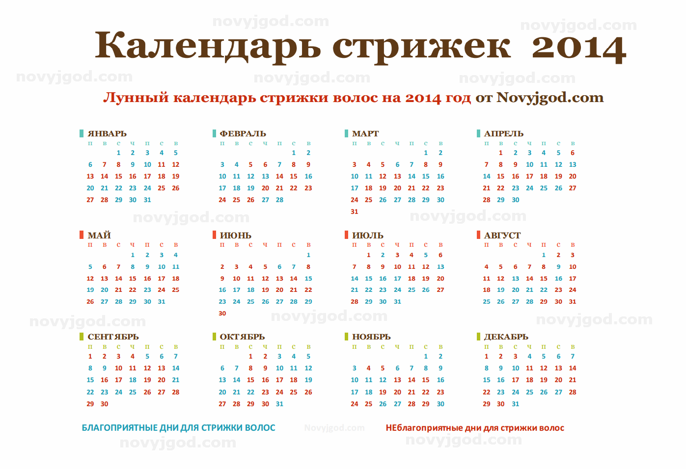 Стрижка для женщин по лунному календарю