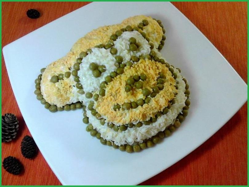 Салат обезьяна рецепты с фото