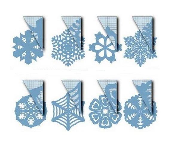 Лёгкие снежинки из бумаги своими руками фото