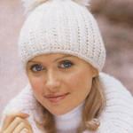 Модные вязаные шапки весна 2014