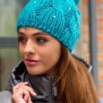 Модные вязаные шапки зима 2014 г