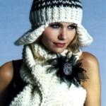 Модные вязаные шапки зима 2014