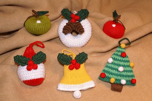 Новогодние вязанные игрушки своими руками