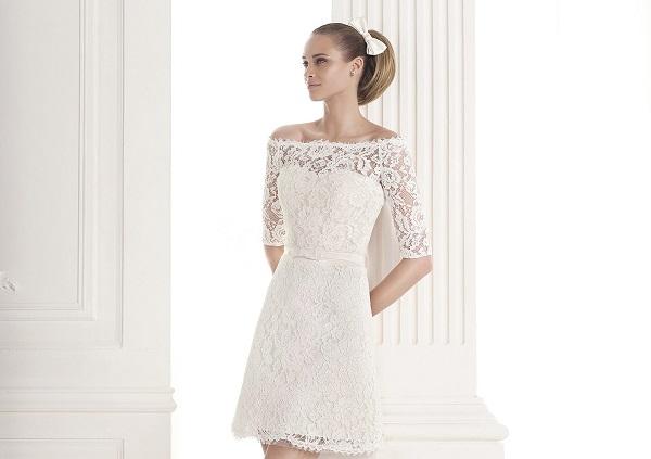 Короткие свадебные платья 2015 года