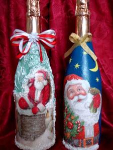 Как украсить шампанское на новый год своими