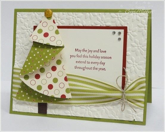 Простая рождественская открытка своими руками
