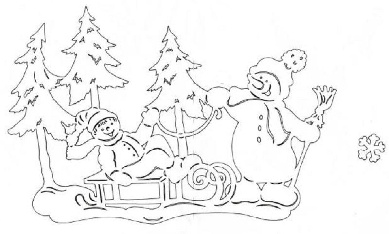 Трафареты новогодние украшения на окна из бумаги