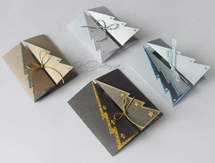 Варианты открыток на новый год своими руками