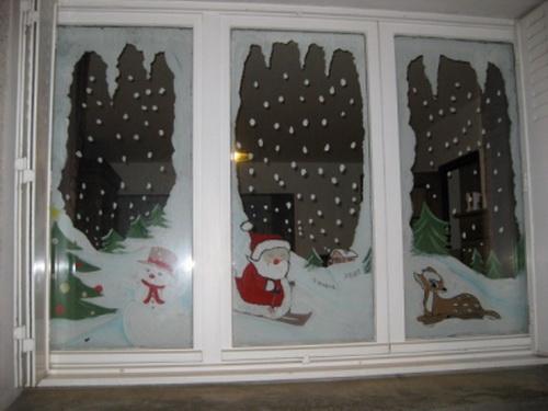 Как украсить окно на новый год фото своими руками