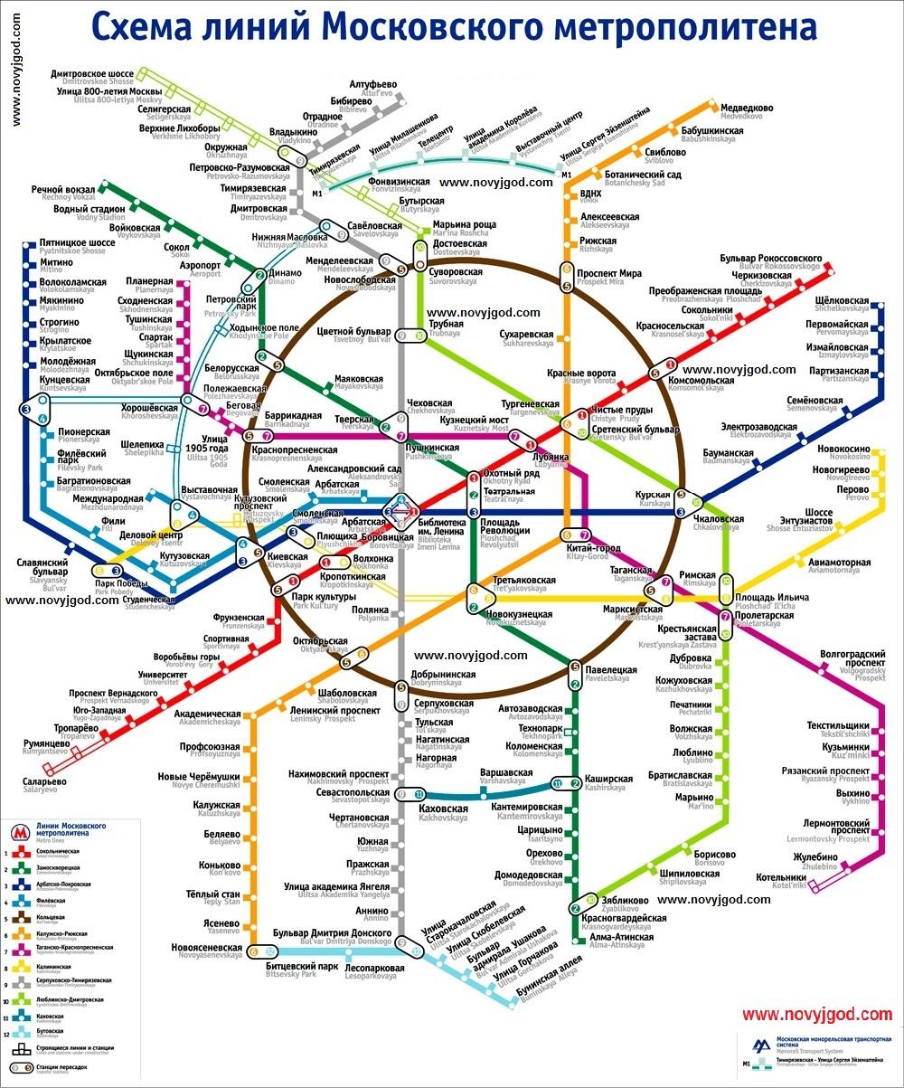 парк горького на схеме метро москвы