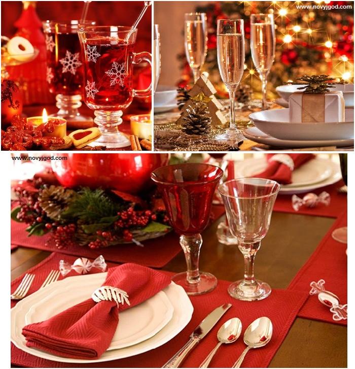 Как можно украсить праздничный стол для ужина в новогоднюю ночь 2016