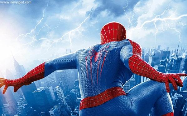 Человек паук 3 над городом