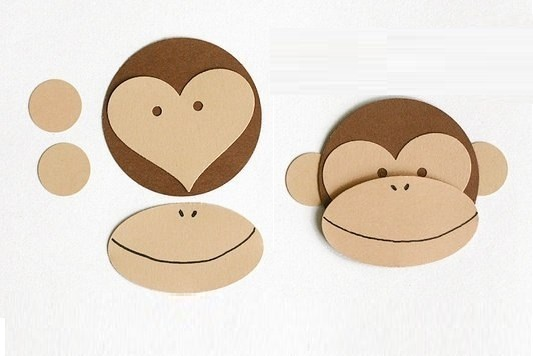 Поделка мордочка обезьяны из бумаги