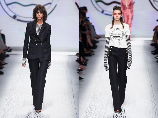 Черные кетоновые брюки