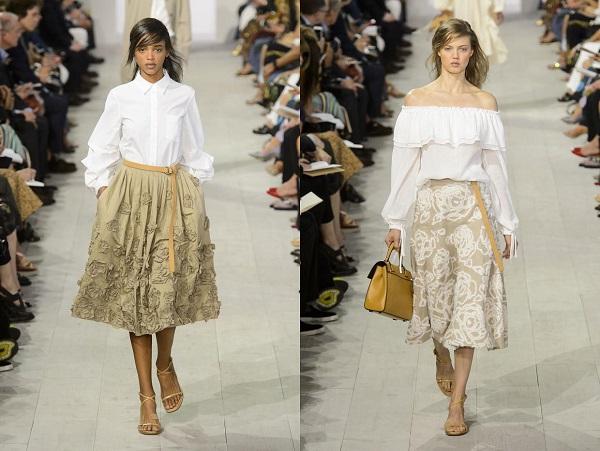 Сочетание белой блузки